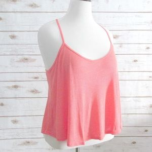 Coral Tank Top Ribbed Swing Style